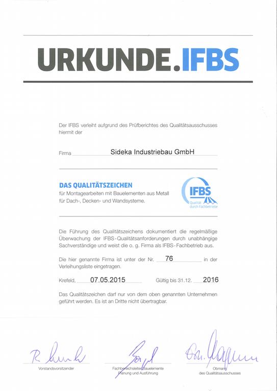 IFBS Qualitätszeichen
