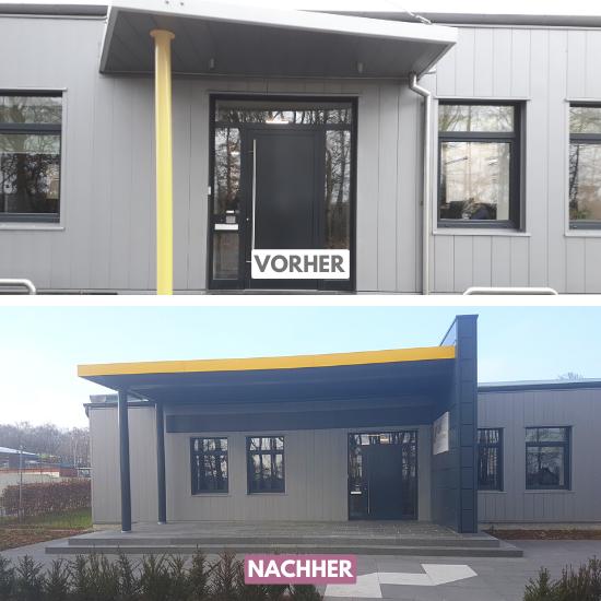 Umbau Vordach, Lingen