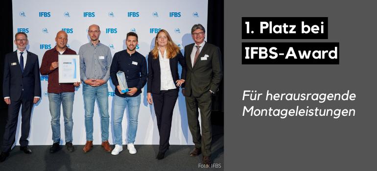 1. Platz IFBS-Award